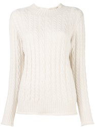 Liska Round Neck Pullover Nude And Neutrals