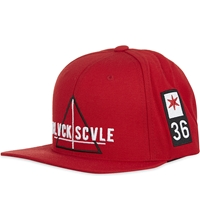 Black Scale Team Blvck Snapback Cap Red