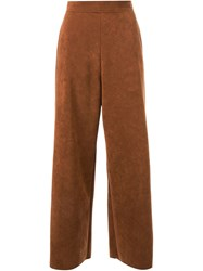 G.V.G.V. Cropped Palazzo Pants Brown
