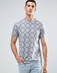 Another Influence Circle Pattern T Shirt Black