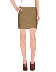 Fay Skirts Mini Skirts Women Khaki