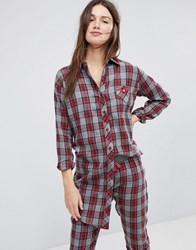 Esprit Checked Night Shirt Multi