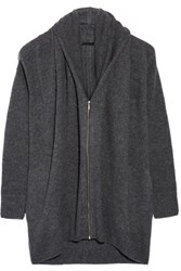The Row Mater Oversized Cashmere And Silk Blend Cardigan Dark Gray