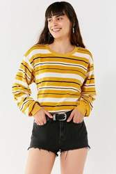 Urban Outfitters Uo Scout Striped Sweatshirt Mustard