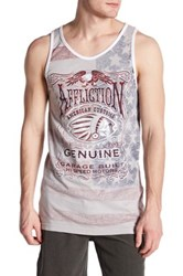 Affliction Genuine Whiskey Graphic Print Tank Gray