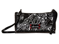 Sakroots Artist Circle Tech Wallet Crossbody Metallic Songbird Cross Body Handbags Black