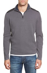 Victorinox Swiss Army 'Lieutenant' Half Zip Sweater Smokey Blue