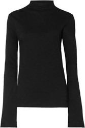 Bassike Organic Cotton Jersey Top Black