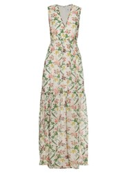 Erdem Shane Strawberry Print Cotton Dress White Print