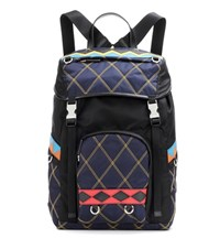 Prada Quilted Backpack Multicoloured