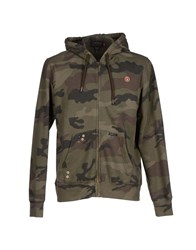 Reign Topwear Sweatshirts Men Military Green