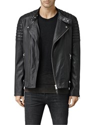 Allsaints Jasper Leather Biker Jacket Black