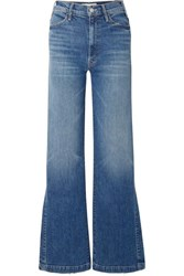 Mother The Hustler Sidewinder High Rise Wide Leg Jeans Mid Denim
