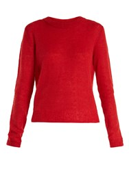 Elizabeth And James Rosalie Long Sleeved Knit Sweater Red