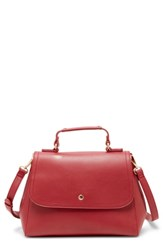 Sole Society Hingi Faux Leather Satchel Red
