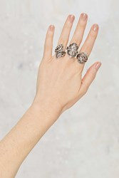 Nasty Gal Leaves A Mark 3 Pc Ring Set
