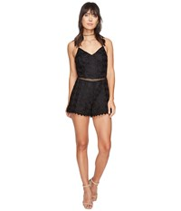 Lovers Friends Songbird Romper Black Women's Jumpsuit And Rompers One Piece
