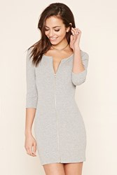 Forever 21 Zipper Front Bodycon Dress