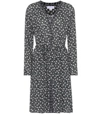Velvet Mariyah Floral Printed Crepe Dress Black