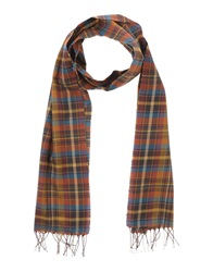 People Oblong Scarves Rust