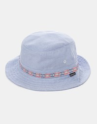 Huf F Ck It Oxford Bucket Hat Blue