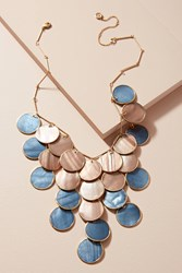 Anthropologie Tiered Seashell Necklace Sand