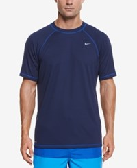 Nike Men's Hydro Performance Upf 40 Swim Shirt Midnight Navy