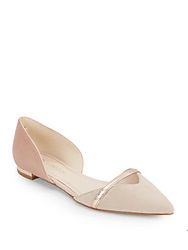 Enzo Angiolini Aila Leather D'orsay Point Toe Flats Natural