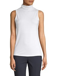Saks Fifth Avenue Black Slouch Turtleneck Sleeveless Top Charcoal