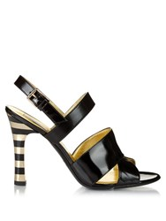 Max Mara Gerard Sandals Black Gold