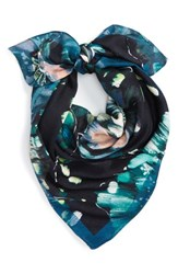 Echo Women's Winter Blooms Square Scarf Navy