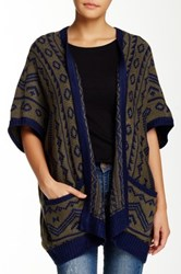 Romeo And Juliet Couture Printed Open Cardigan Green