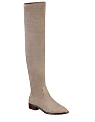 Ivanka Trump Livi Over The Knee Faux Suede Boots Taupe