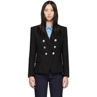 Balmain Black Six Button Blazer