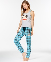 Paul Frank Tank And Pajama Pants Grey Blue