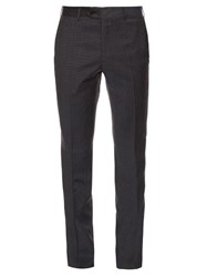 Brioni Montana Slim Leg Micro Check Wool Trousers
