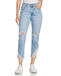 Nobody Bessette Straight And Cropped Jeans In Immortal