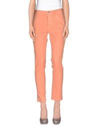 M.Grifoni Denim Trousers Casual Trousers Women Salmon Pink