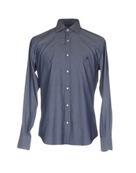 Brooksfield Shirts Dark Blue
