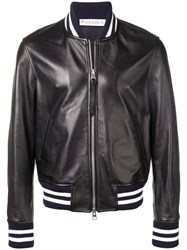 J.W.Anderson Jw Anderson Striped Trim Bomber Jacket Black
