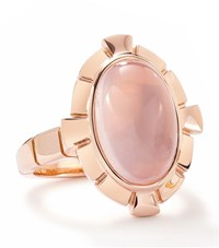 Boodles Keystone Quartz Ring Female Rose Gold