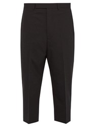 Rick Owens Astaires Stretch Wool Cropped Trousers Black