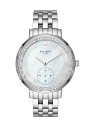 Kate Spade Stainless Pave Monterey Multifunction Watch Stainless Steel