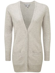 Pure Collection Cashmere Boyfriend Cardigan Iced Grey