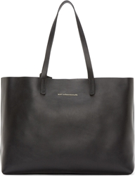 Want Les Essentiels Black And Gunmetal Reversible Strauss Tote