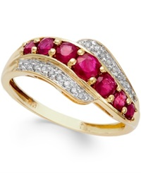 Macy's Ruby 1 Ct. T.W. And Diamond Accent Ring In 14K Gold