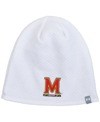 Under Armour Women's Maryland Terrapins Diamond Tough Beanie White
