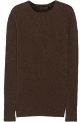 Haider Ackermann Ribbed Wool And Cashmere Blend Sweater Brown