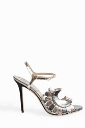 Paula Cademartori Women S Metallic Strappy Sandals Boutique1 Silver