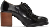 Christophe Lemaire Black Heeled Oxfords